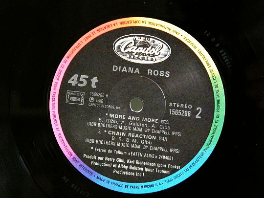 diana ross face B chain reaction collector