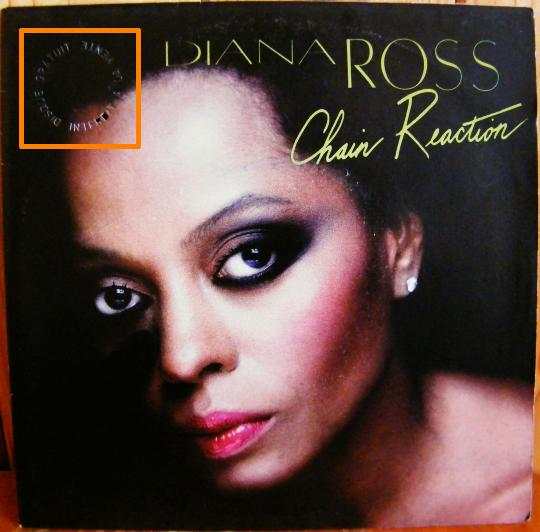 recto du 45 tours promo de Diana Ross - Chain reaction
