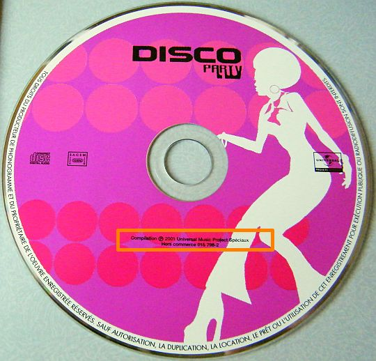 CD sampler Collector DISCO PARTY