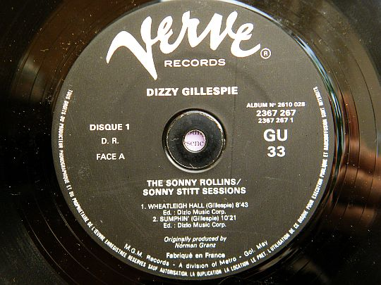 Dizzy Gillespie - Sonny sessions Collector face A