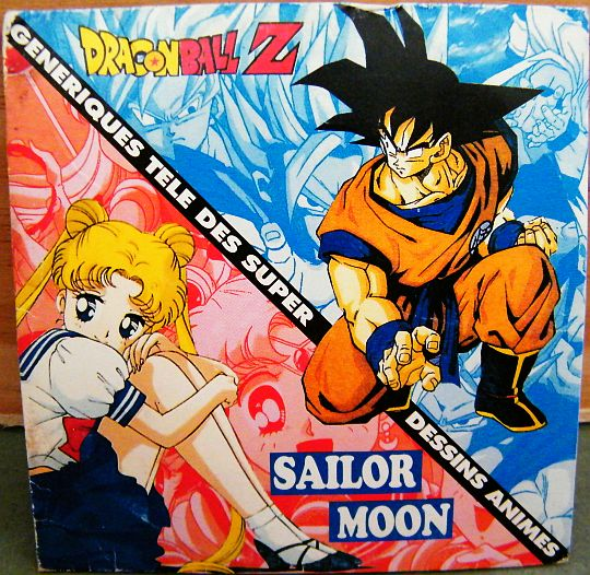 recto du CD sampler Collector Dragonball Z - Sailor Moon