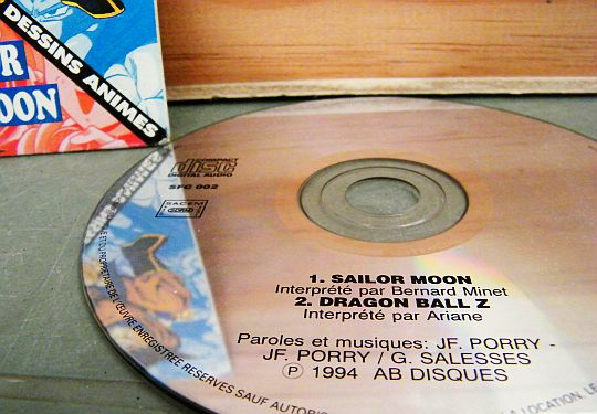 CD interdit à la vente Sailor Moon / Dragon Ball Z