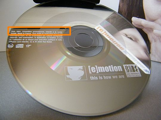 CD single Collector monotitre E-Motion - This is how we are