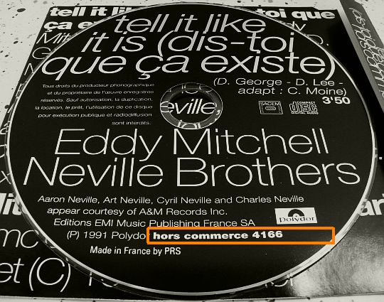 CD hors commerce Eddy Mitchell Neville Brothers