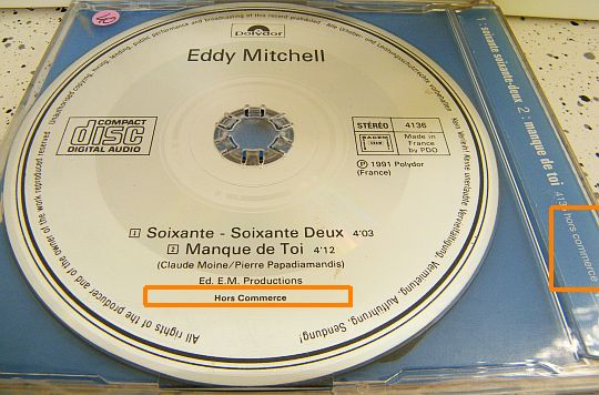 CD hors commerce Eddy Mitchell 60-62