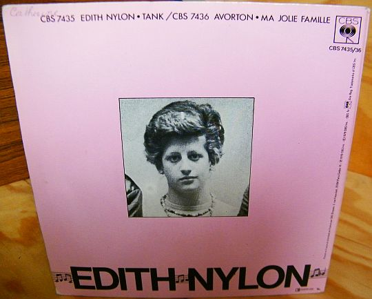 verso du gatefold Collector d'Edith Nylon
