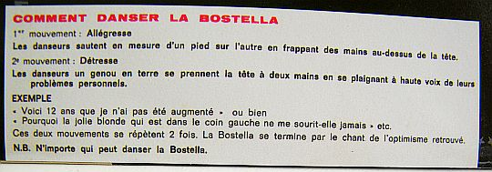 comment danser la Bostella