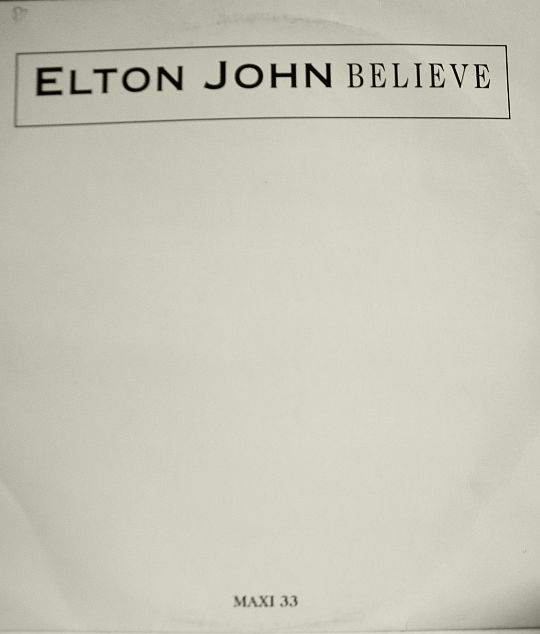 recto du maxi 33 tours promo Collector d'Elton John - Believe