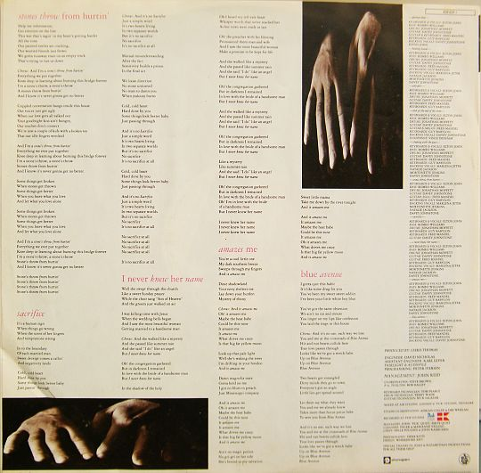 paroles du LP promo d'Elton John Sleeping with the past face B