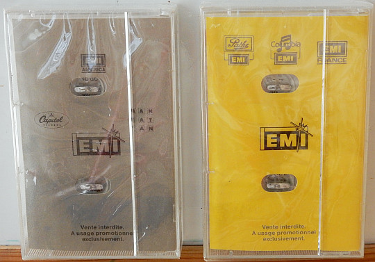 verso des cassettes audio promotionnelles EMI France convention Deauville 86