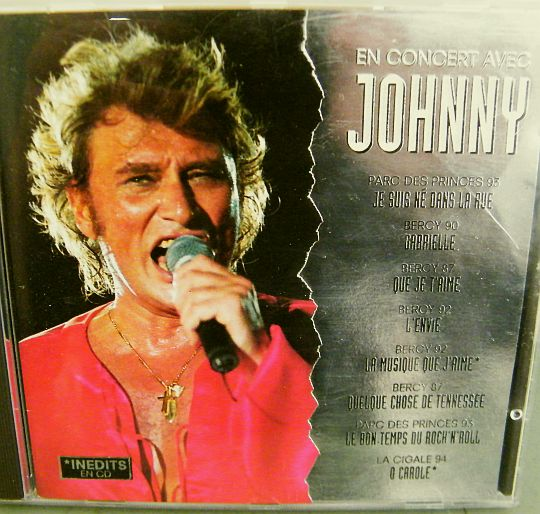 recto du CD Collector Mattel de Johnny Hallyday en concert