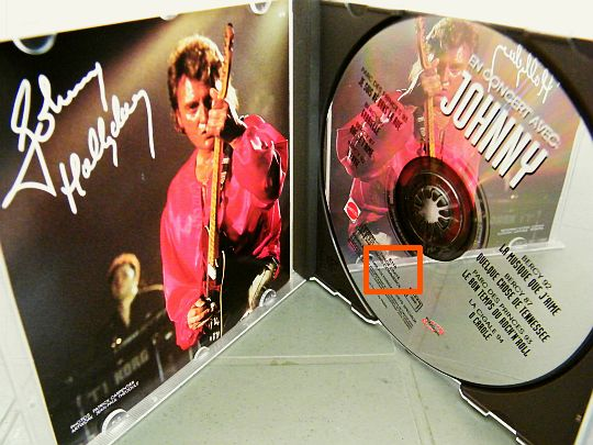 cd Collector Mattel en concert avec Johnny