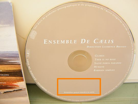 CD de l'Ensemble de Caelis direction Laurence Brisset