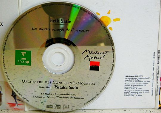 disque compact collector d'Erik SATIE 2001