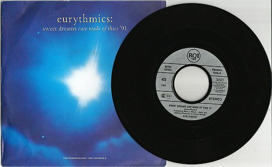 recto et 45 tours promo d'Eurythmics - Sweet dreams (are made of this) '91