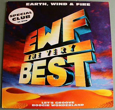 pochette recto du maxi Collector promo d'EWF - The very best