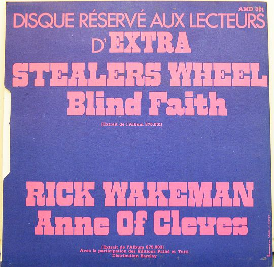verso Collector biface Stealers Wheel - Rick Wakeman