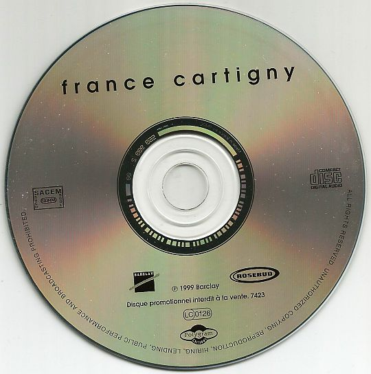 CD sampler promo éponyme de France Cartigny