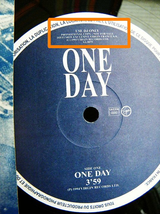 face A du maxi promo de Gary Moore - One day