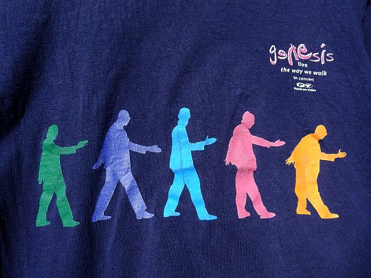 tee-shirt promo Genesis live in concert - The way we walk