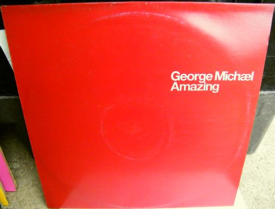 recto du maxi 33 tours promo Collector de George Michael - Amazing
