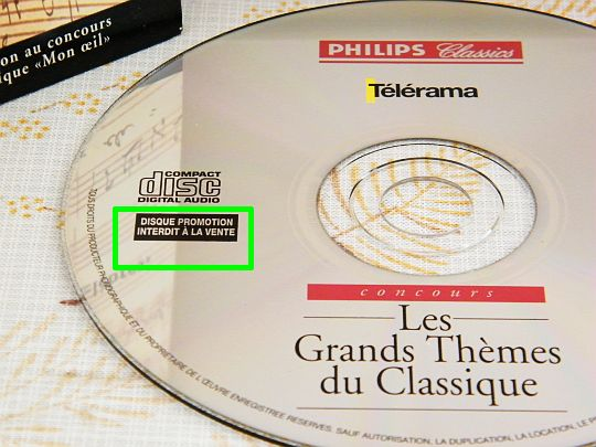 disque promotion Collector interdit à la vente Philips Classics/Télérama