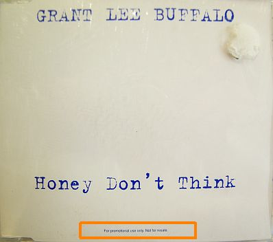 CD collector de Grant Lee Buffalo - Honey don't think