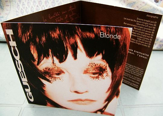 mini dossier de presse promotionnel pour l'album Blonde de Guesch Patti