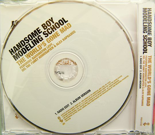 CD single promo des Handsome Boy Modeling School - The world's gone mad