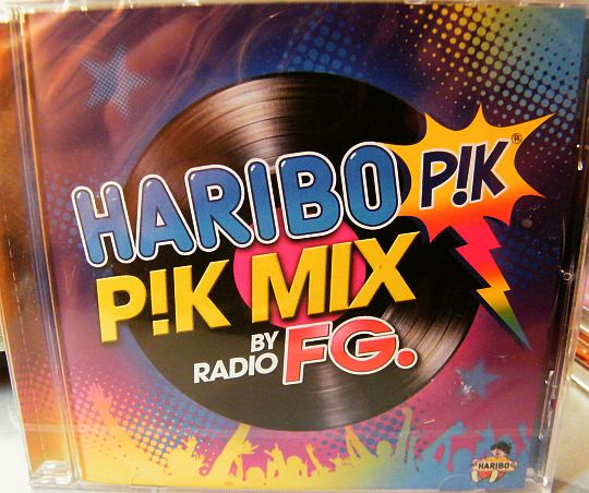recto de la compilation promo Haribo Pik Mix by Radio FG