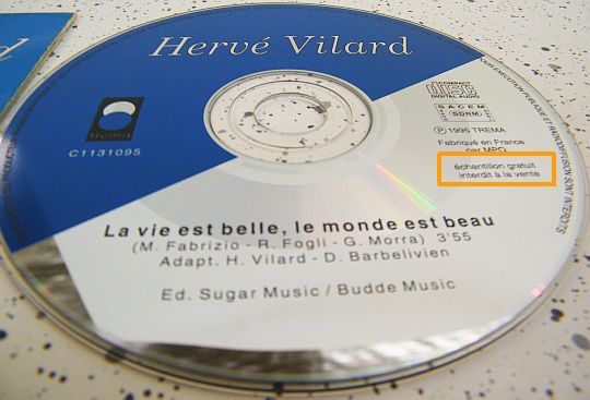 CD collector d'hervé vilard