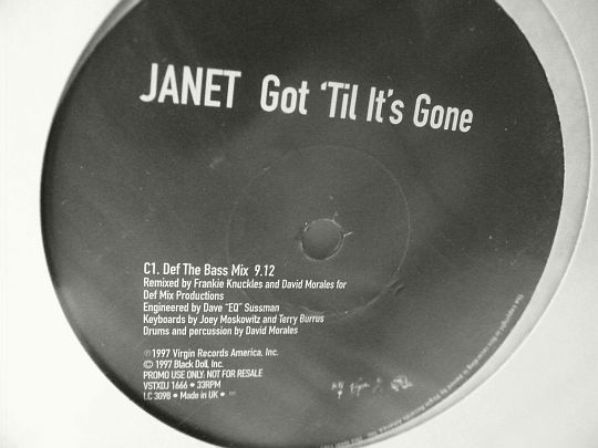 double maxi promo Collector des remixes de JANET JACKSON - Got til it's gone