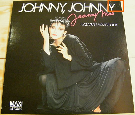 pochette recto Jeanne Mas - Johnny Johnny version 2 promo Collector