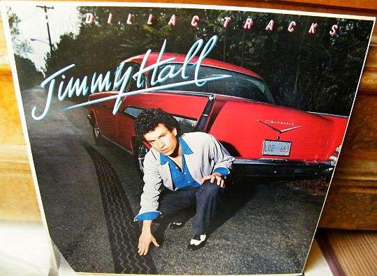 recto du LP promo 30 cm Cadillac tracks par Jimmy Hall