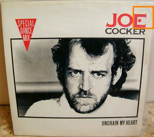 recto du maxi 45t Collector de Joe Cocker - Unchain my heart