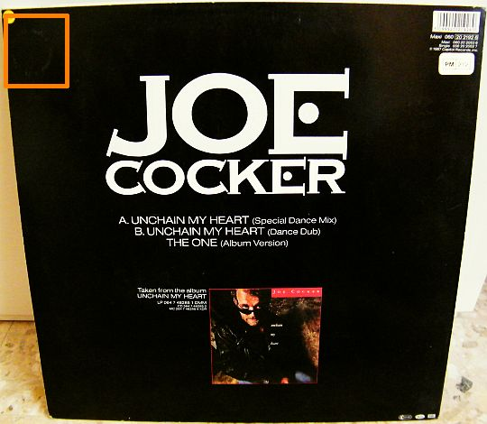 pochette verso du maxi Collector de Joe Cocker Unchain my heart