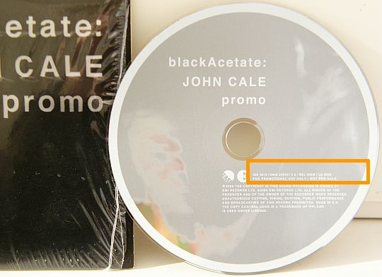 CD collector promo Black Acetate par John Cale