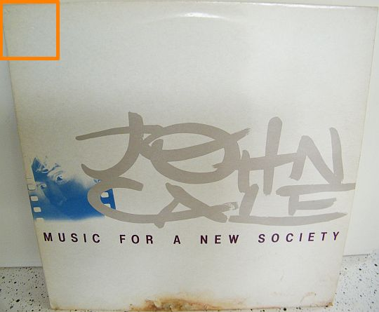 pochette recto du LP promo Music for a new society de John CALE