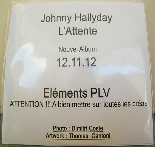 PLV Collector de Johnny Hallyday - L'attente