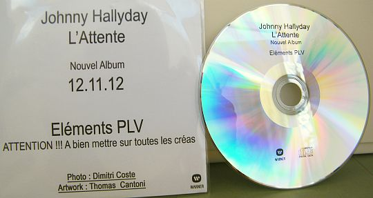 CD-ROM Collector PLV Johnny Hallyday - L'attente