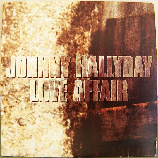 recto du CD promo Collector monotitre de Johnny Hallyday et Kathy Mattea - Love affair