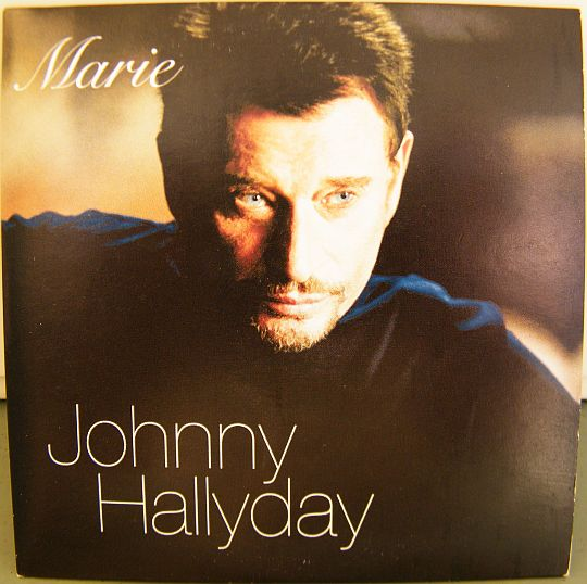 recto du CD promo Collector monotitre de Johnny Hallyday - Marie