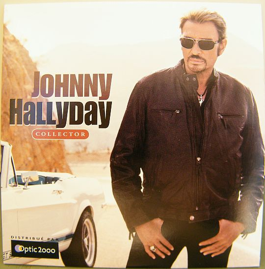 compilation Collector de Johnny Hallyday - CD 10 titres Optic 2000, ford mustang