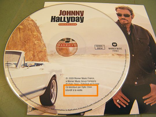 CD Collector Optic 2000 de Johnny