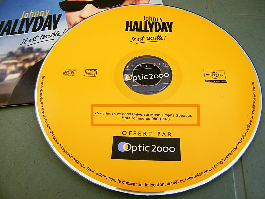 CD Collector Optic 2000 - Il est terrible ce Johnny Hallyday