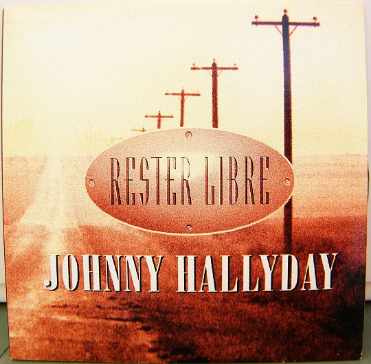 recto du CD promo Collector monotitre de Johnny Hallyday - Rester libre