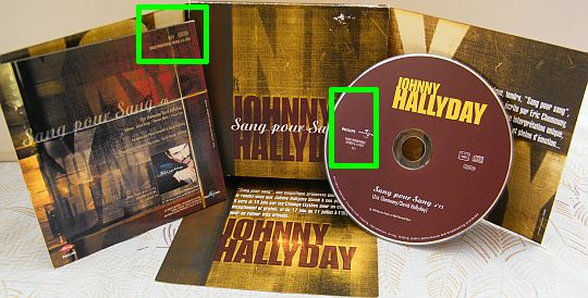 CD promotionnel monotitre Collector de Johnny Hallyday - sang pour sang