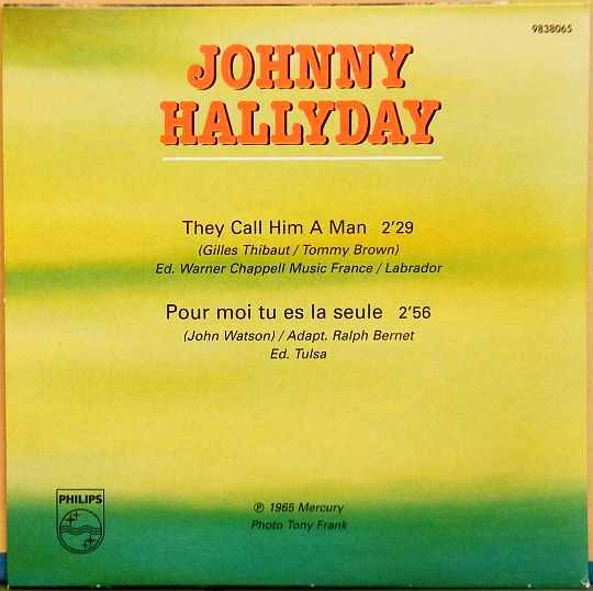 pochette verso Collector de Johnny Hallyday They call him a man