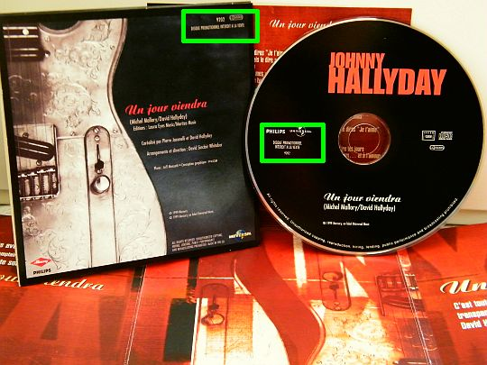 CD promo un jour viendra par Johnny