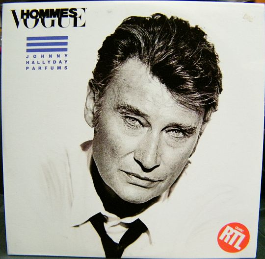 recto de la compilation promo de Johnny Hallyday par Vogue Hommes